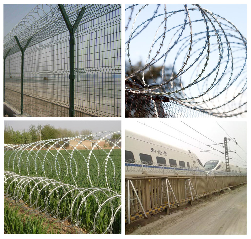 concertina razor wire application