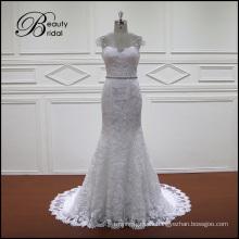 Vestidos de novia de sirena de encaje francés