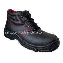 Hot Sold Red Lining MID-Cut Safety Shoes (HQ05031)