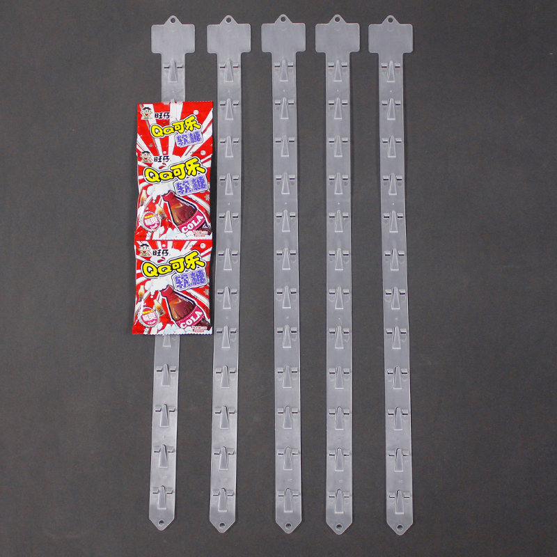 plastic hanging display clip strip