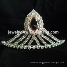 fashion metal silver plated crystal headband bridal hair accessories