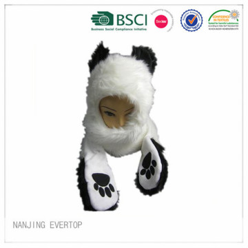 Winter New Europe Long Plush Bear Animal Hat