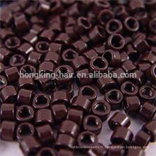 Micro bague pour les extensions de cheveux, anneaux de silicium, microring avec vissé