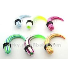 fashion spiral acrylic ear stretcher plug
