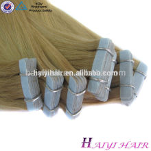Fita de alta qualidade quente do Virgin da colagem do plutônio da pele da qualidade superior 100 da venda de Remy do estilo em extensões do cabelo