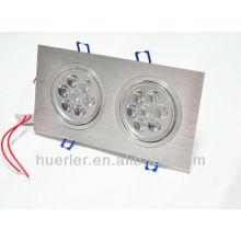 2 cabezas 7 * 1W AC85-265V 14leds 14w llevó downlight fabricante