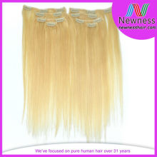Blonde 20 Inch Full Head Clip In Hair Extensions