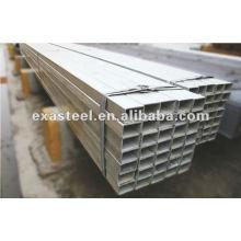 Tubulure en acier galvanisé soudé en acier carré