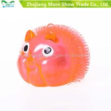 Novidade colorido puffer Yoyo porquinho brinquedos acender bola