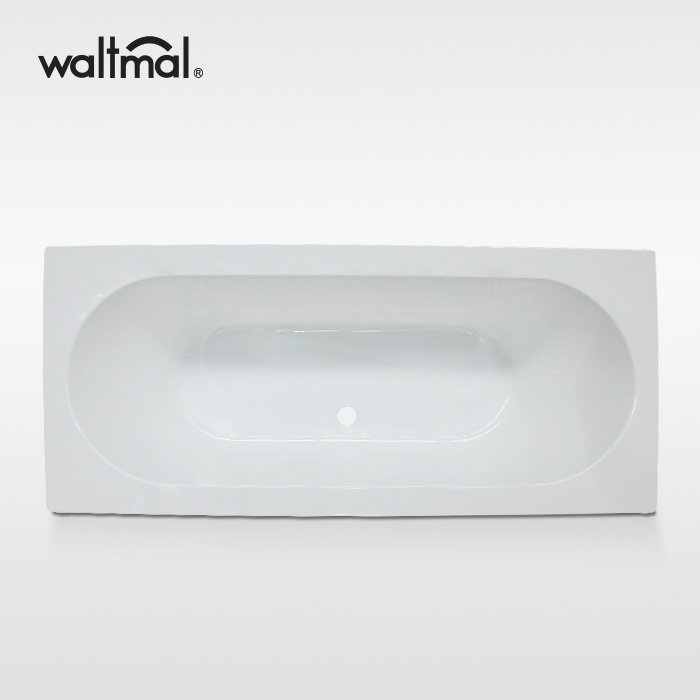 Wash Acrylic Drop-in Bath Tub in White