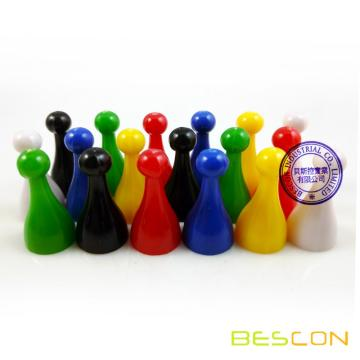 Colorful Plastic Game Pawns and Dices Set