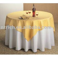 Mantel, mantelería de poliéster, cubierta de mesa de hotel, revestimiento de mesa