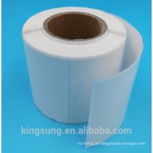 canto redondo branco fabricante de rolo de etiqueta de papel de uso personalizado