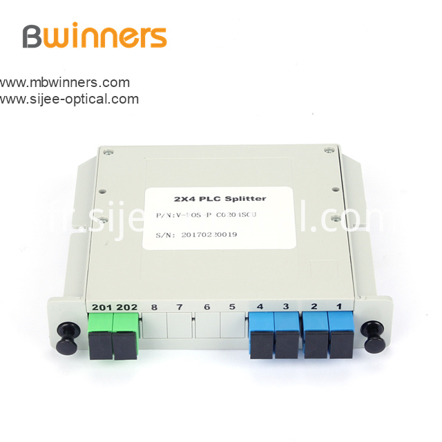 Insertion Module 2x4 Plc Splitter With Sc Upc Connector