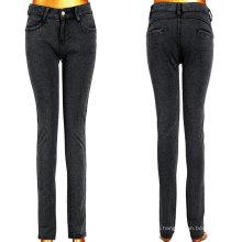 Длинная классическая черная леди Stretchy Jeans