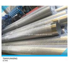Tubería / tubo de acero inoxidable sin costura pulido ASTM 316L