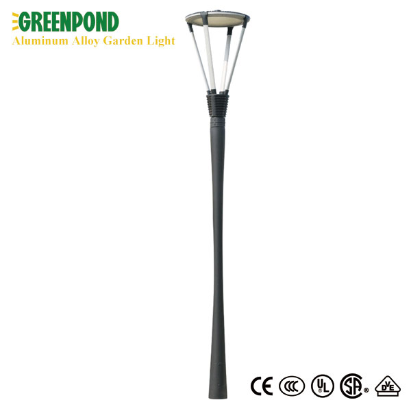Tulip Shaped Grey Body Aluminum Alloy Yard Lamp