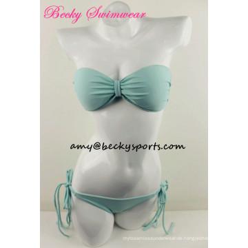 Dame's Hot Sexy Bikini Bademode Solid Color