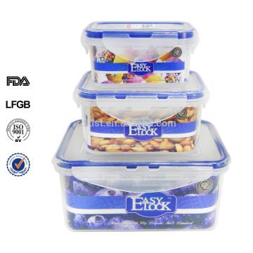 утечка доказательство замком и печатью bpa бесплатно штабелируемый контейнер для пищи