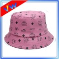 Custom Leather Floral Children Bucket Cap
