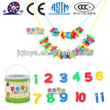 Plástico carta educativa threading juguete