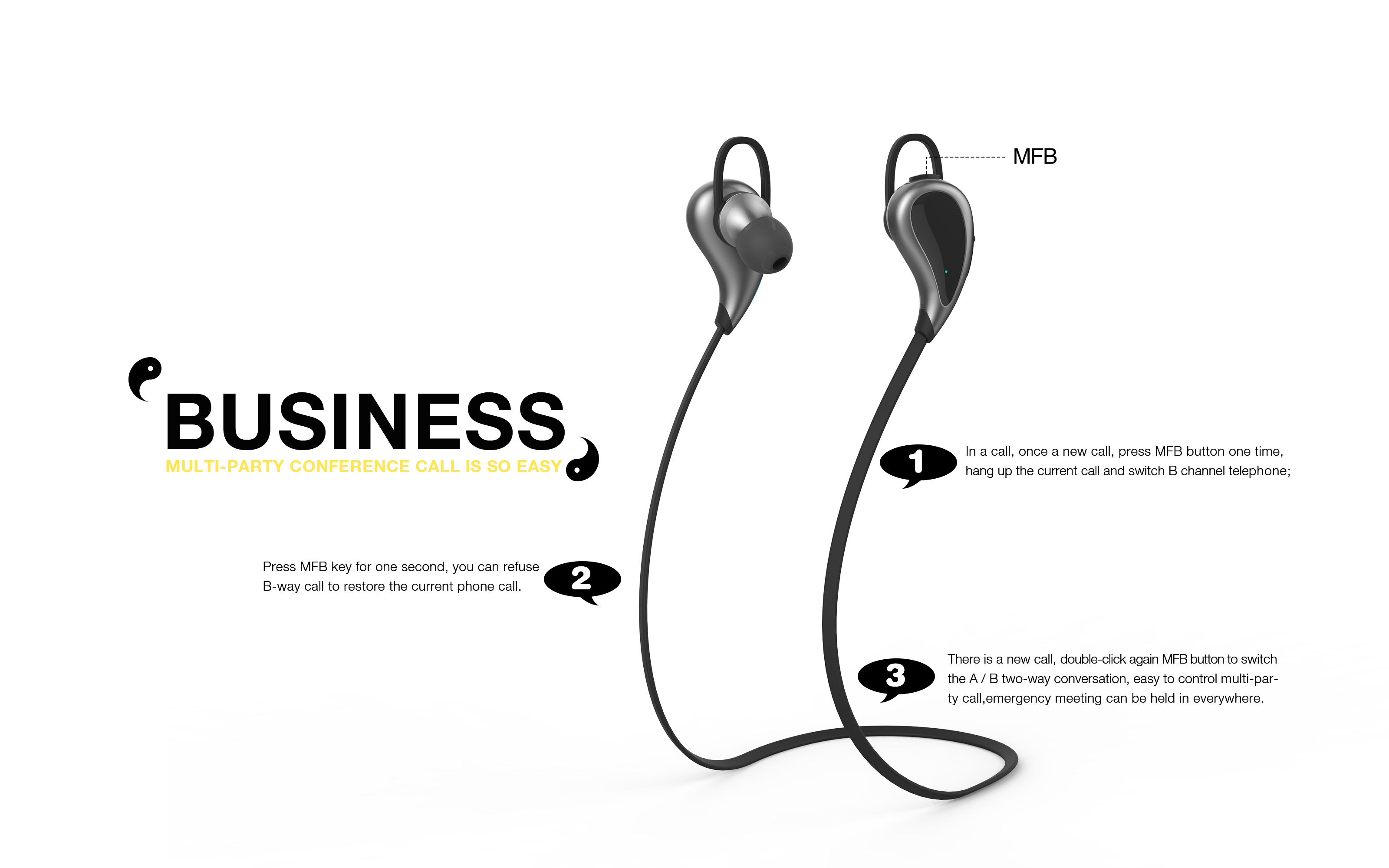 Wireless Bluetooth In Ear Headphones