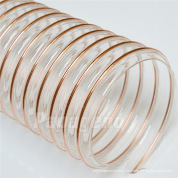 O fio de poliuretano de 5 polegadas reforçou a mangueira de canalização do condicionamento de ar