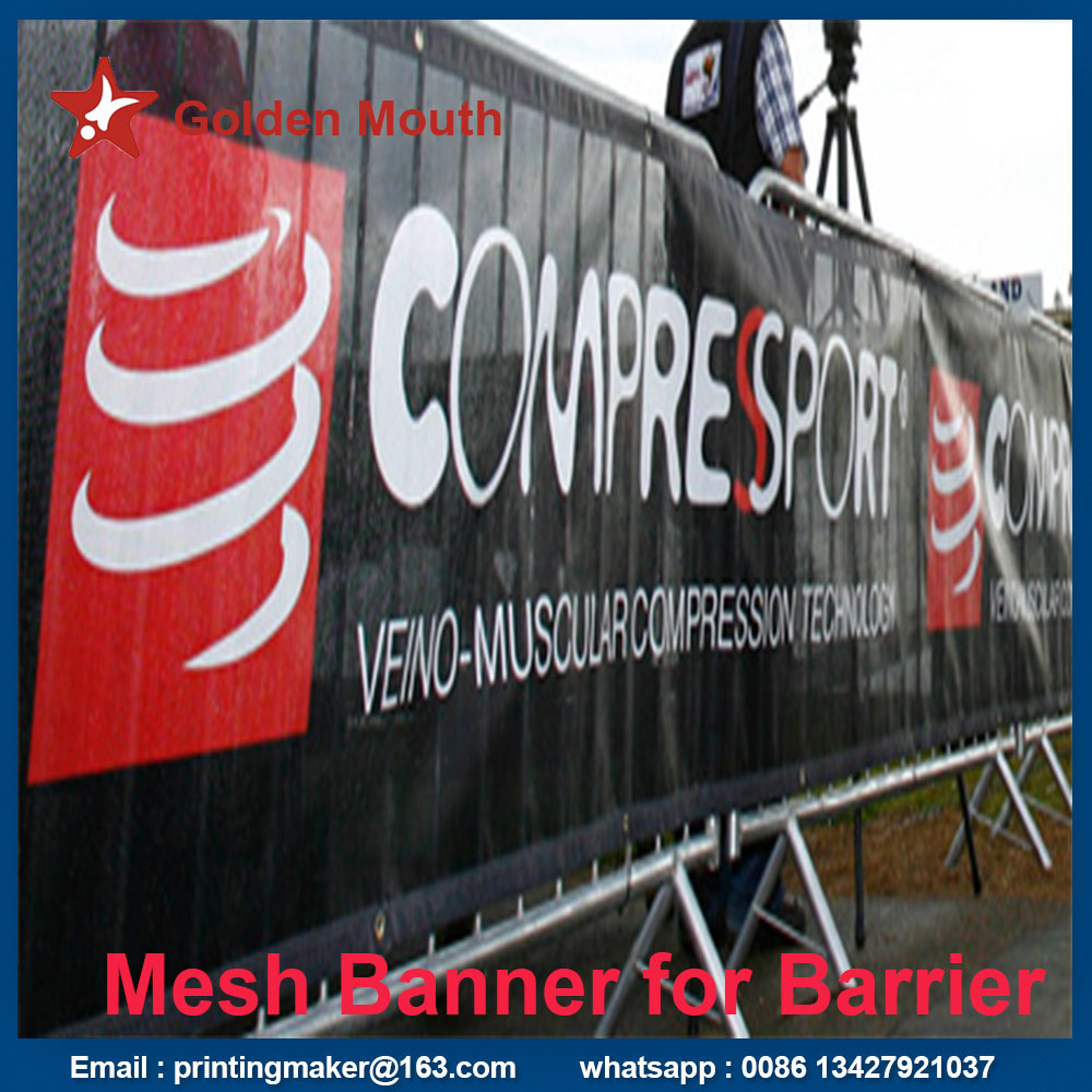 mesh banner for barrier