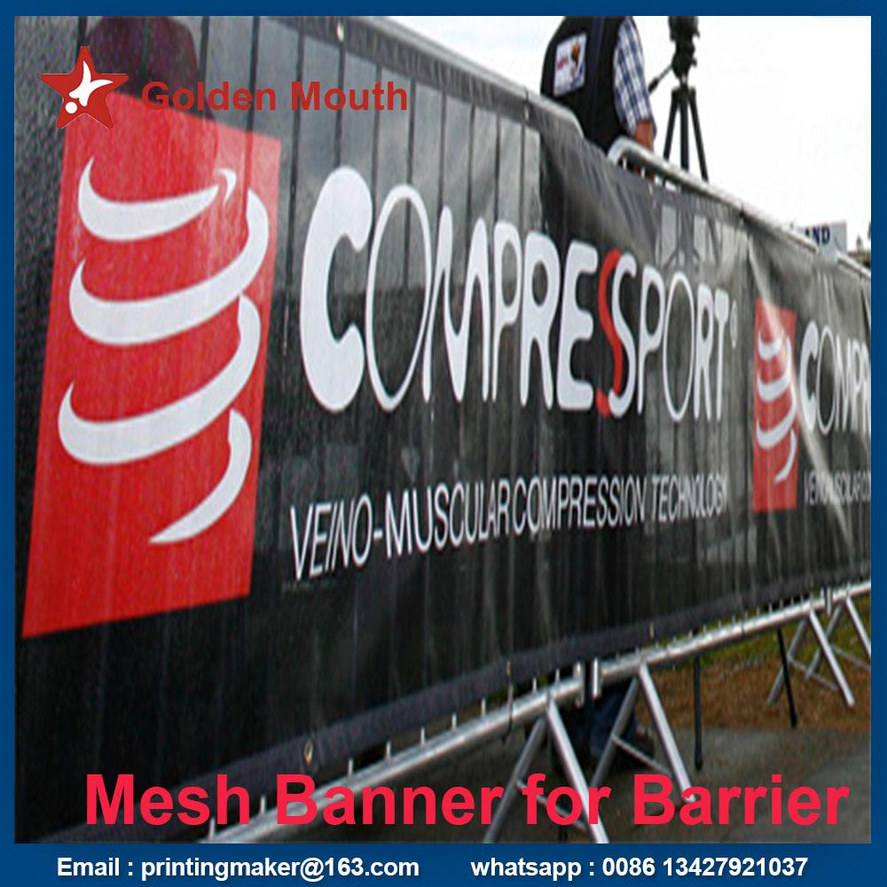 mesh banner for barrier