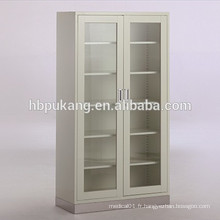 G-19 armoires d'hôpitaux à 2 portes avec base en acier inoxydable
