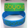 Debossed Color Filled Silicone Bracelet
