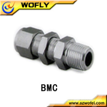 AFK Stainless Steel Tube Fittings Bulkhead Male Connectors for Gases