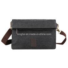 Portable Folded Flap Canvas Fashion Handbag (ZXS0030)