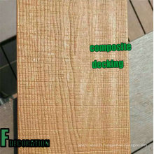 Plancher stratifié en plastique en bois de WPC de Co-Extrusion extérieure