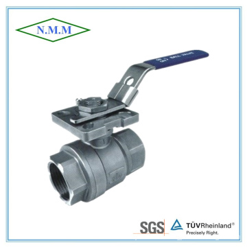 Full Bore Threaded End 1000wog 2PC Ball Valve with Mounting Pad