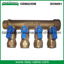 OEM de calidad de latón forjado válvula de colector de bola (AV9062)