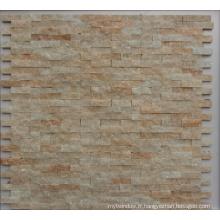 Mosaïque d'ardoise en pierre naturelle pour salle de bain ou mur de cuisine