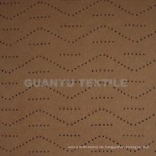 Wildleder Stanzen 100% Polyester Home Decoration Stoff