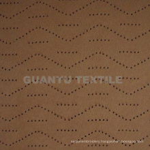 Suede Punching 100% Polyester Home Decoration Cloth