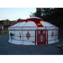 Брезент из ПВХ-палатки в виде монгольской юртной ткани