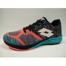 Colorful Fly Knit Wide Insole Jogging Shoes for Ladies