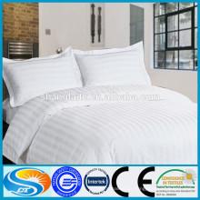 No hotel tecido de algodão branco cama capa