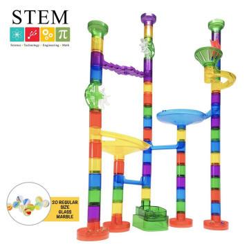 STEM Track Tube Plastic Pipe Blocks Building Toys for Kids Creation