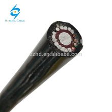 0.6 / 1kv alambre de comunicación de cobre sólido de aluminio concéntrico dividido monofásico con cable de servicio aéreo neutral de aluminio 16 mm2