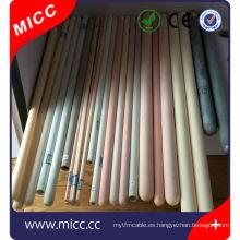 Tubo de cerámica c799 / Termocupla Tubo de cerámica porosa alúmina 99% al203