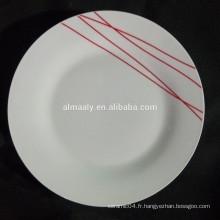assiette en céramique chinoise, taille standard de plat de dîner, assiette en porcelaine de haute qualité