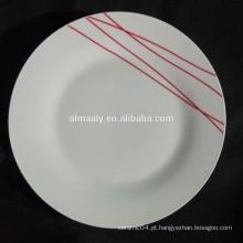 placa cerâmica chinesa, tamanho padrão da placa de jantar, placa de porcelana de alto grau