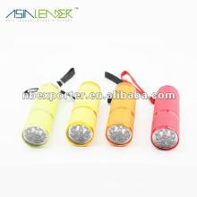 3 * AAA batterie 9 led en aluminium lampe de poche