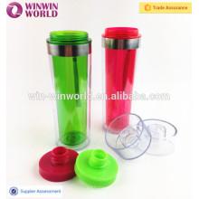 Garrafa de água plástica livre da parede do dobro do curso da fantasia da forma de BPA