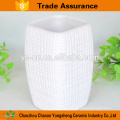Wholesaler 5pcs square cross line ceramic bathroom accessory for hotel